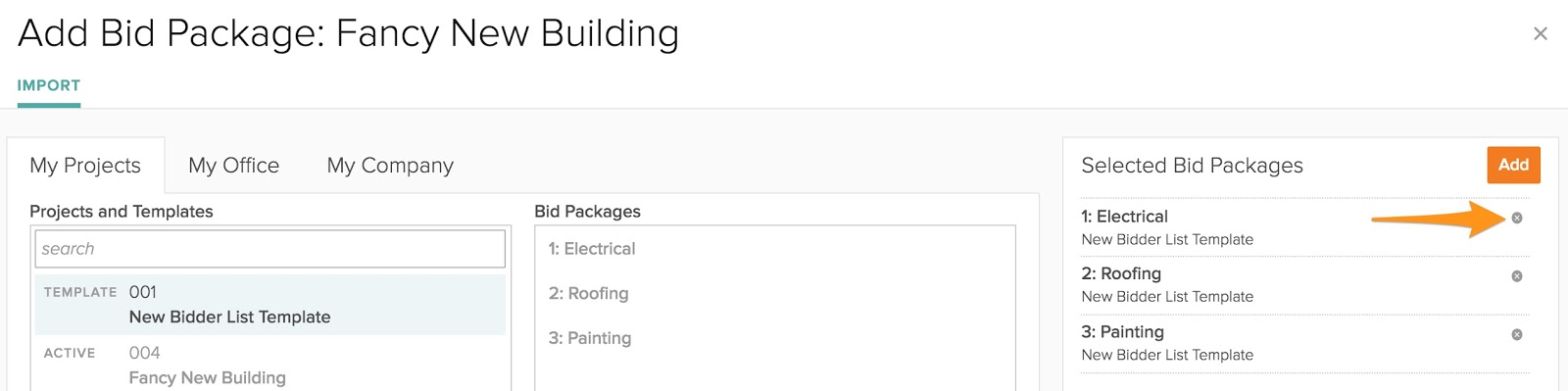 How to import bidder list templates into projects \u2013 BuildingConnected